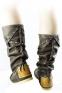 Высокие коричневые сапоги-мокасины Лилу с шнурком BRUNO - 7