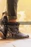 Коричневые кожаные сапоги-мокасины Лилу с подворотом ROSA - 1