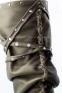 Высокие коричневые сапоги-мокасины Лилу с шнурком BRUNO - 9
