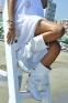 Белые перфорированные сапоги Фебе - 1