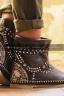 Коричневые кожаные сапоги-мокасины Лилу с подворотом ROSA
