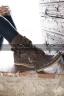 Высокие замшевые сапоги-мокасины Лилу с матовыми клепками GIOVANNA